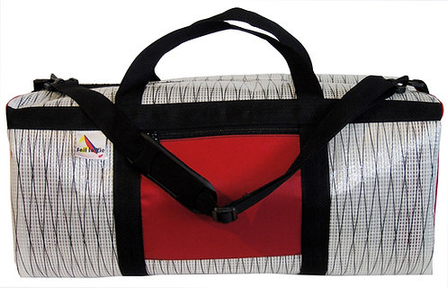White Carbon Mylar w/ Red Pockets and Black Webbing