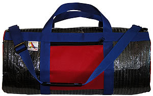 Black Mylar with Red Pockets & Royal Webbing
