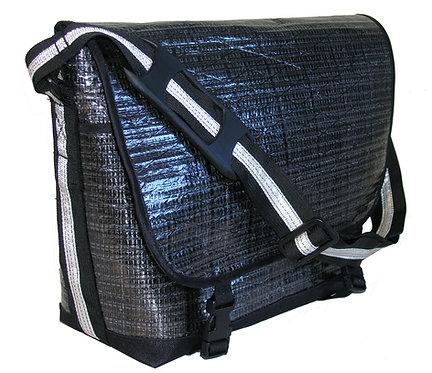 Black Mylar Messenger Bag