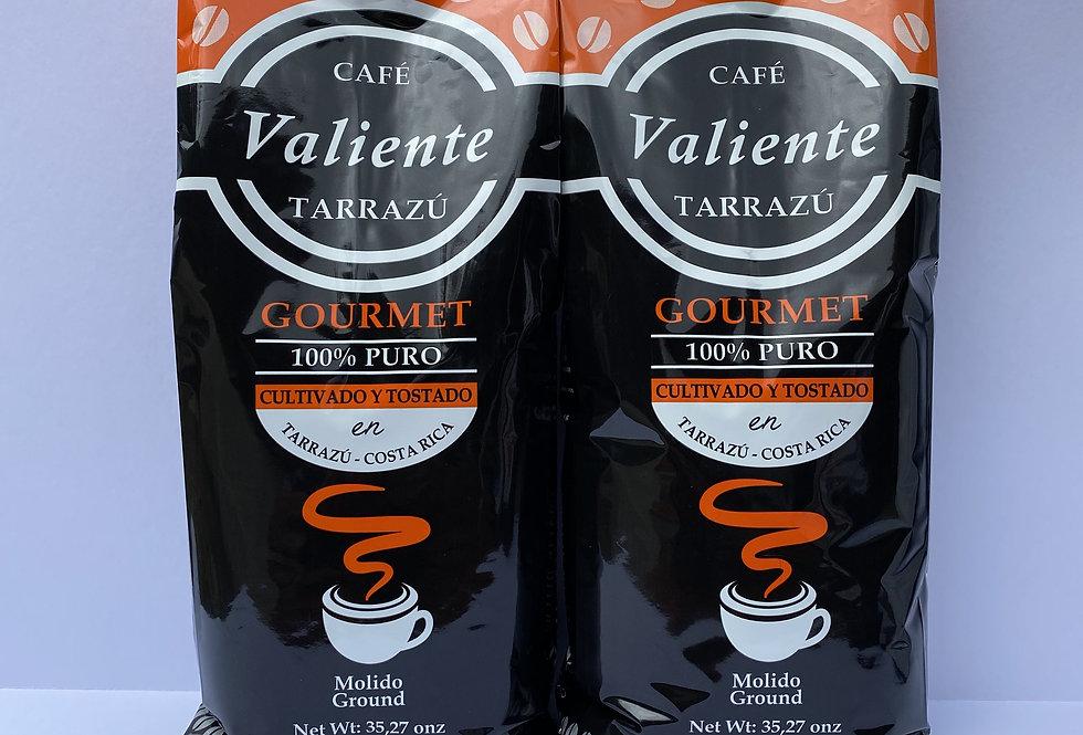 2 Pack Café Valiente Gourmet 1Kg Molido