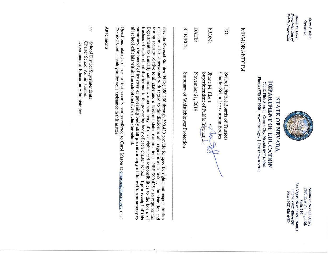 Whistleblower Protection Memo 11.21.19_P