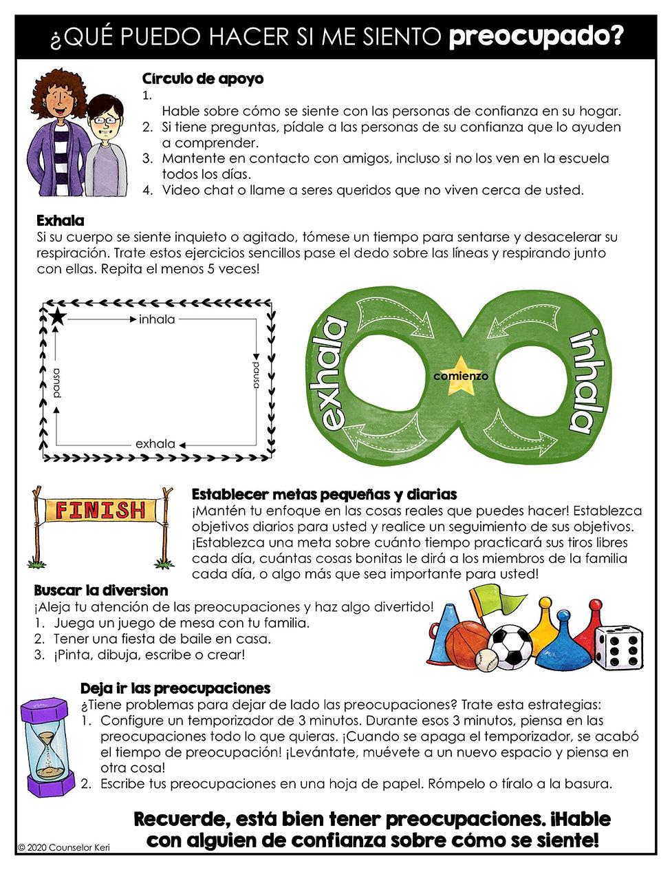 Coronavirus Student Handout Spanish _Pag