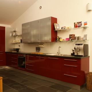 Küche Weinrot lackiert hochglanz