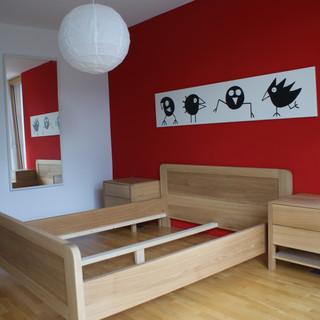 Schlafzimmer aus schlichter Eiche