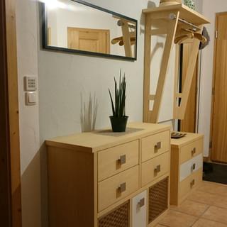 Garderobe in Ahorn