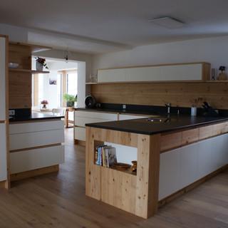 Küche Altholz mit weiß lackiert