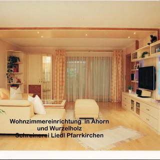 Ahorn Wohnzimmerwand