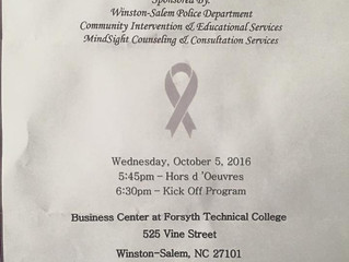 "Domestic Violence Awareness Month ""Kick-off & Candlelight Vigil"" 2016"