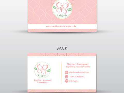 Gigi Vzla Business Card Design