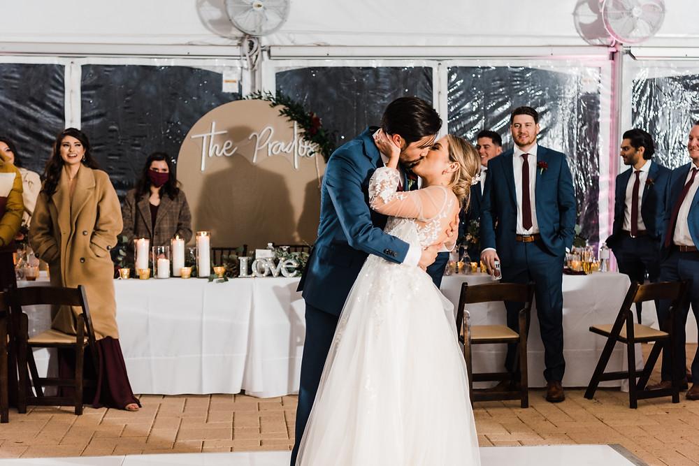 First dance wedding couple