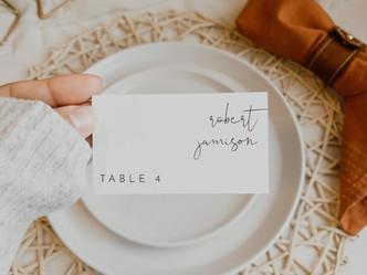 Easy DIY Wedding Place Cards