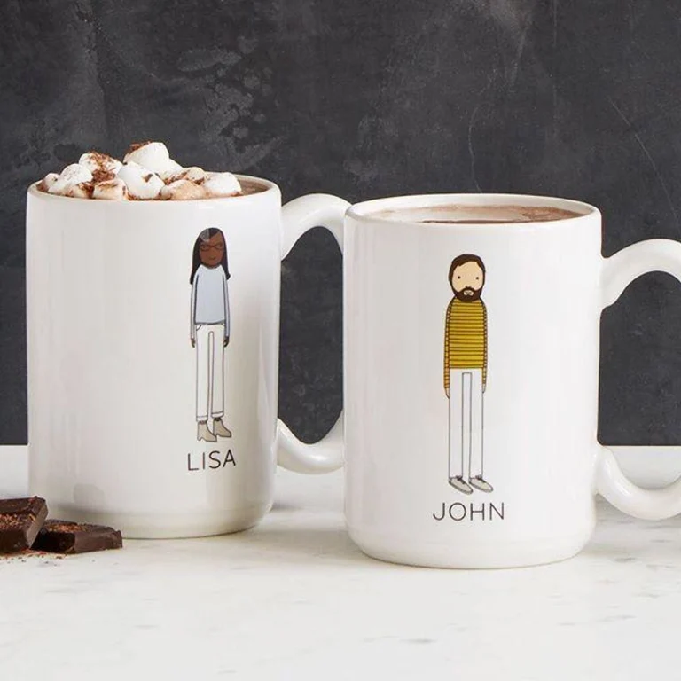 Personalized Family Mugs by Shelly Klein on Uncommon Goods Unique Wedding Gifts on Unmeasured Events