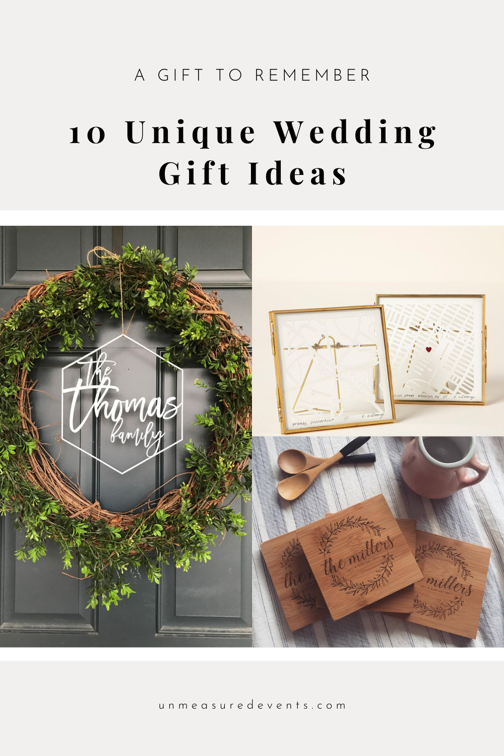 10 Unique Wedding Gift Ideas for Newlyweds on the Unmeasured Events Blog