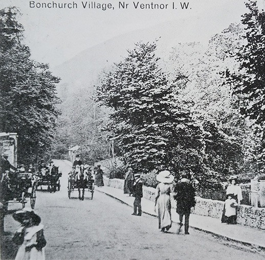 Bonchurch Village Road, by the pond, circa 1880