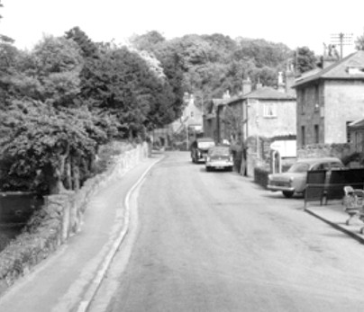 c1950 Pond to the left