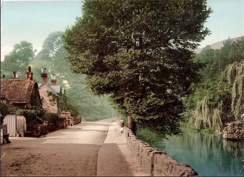 Village pond and Shepherds cottage