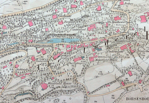 1862 The first Ordnance Survey Map published. Beautifully coloured showing a surprising number of glass houses.