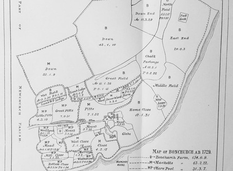 Early Maps and History of Bonchurch 1729 - 1890