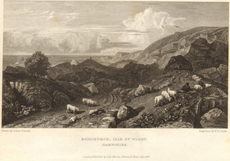Bonchurch from a drawing by Joshua Cristall, engraved by WB Cooke, printed 1816