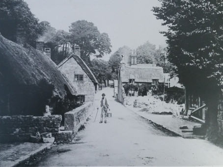 Early Photography of Bonchurch Village Village Road and the Old Smugglers Cottage.
