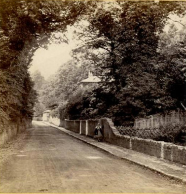 Bonchurch Village Road used to be called Shepherds Lane. The photo looks towards Brookside