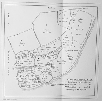 1729 Tithe Map of Bonchurch