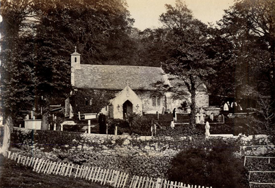 Bonchurch old church when access was via a lane prior to Winterbourne ownership (see 1862 map)