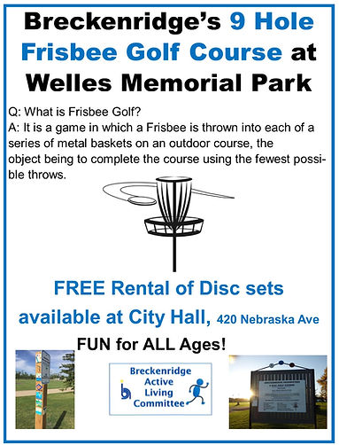 Updated Frisbee Golf Flyer- Disc Rental.