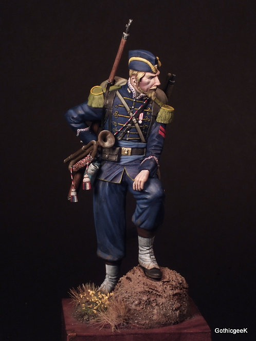 French Imperial Guard Chassuer a'Pied Trumpeter