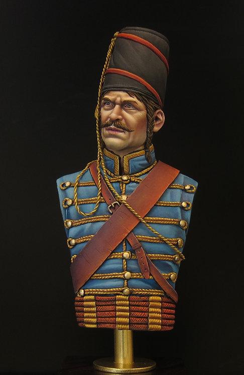 1/9th Bust Hussar Lauzun's Legion 1780