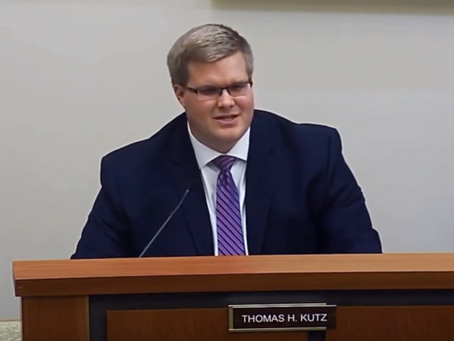 WATCH: Kutz Delivers First Remarks on Board of Commissioners