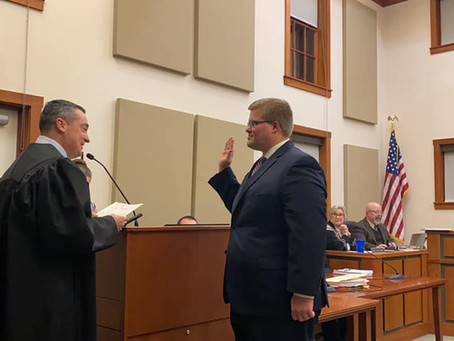 Kutz Sworn in at January 6th Reorganization Meeting