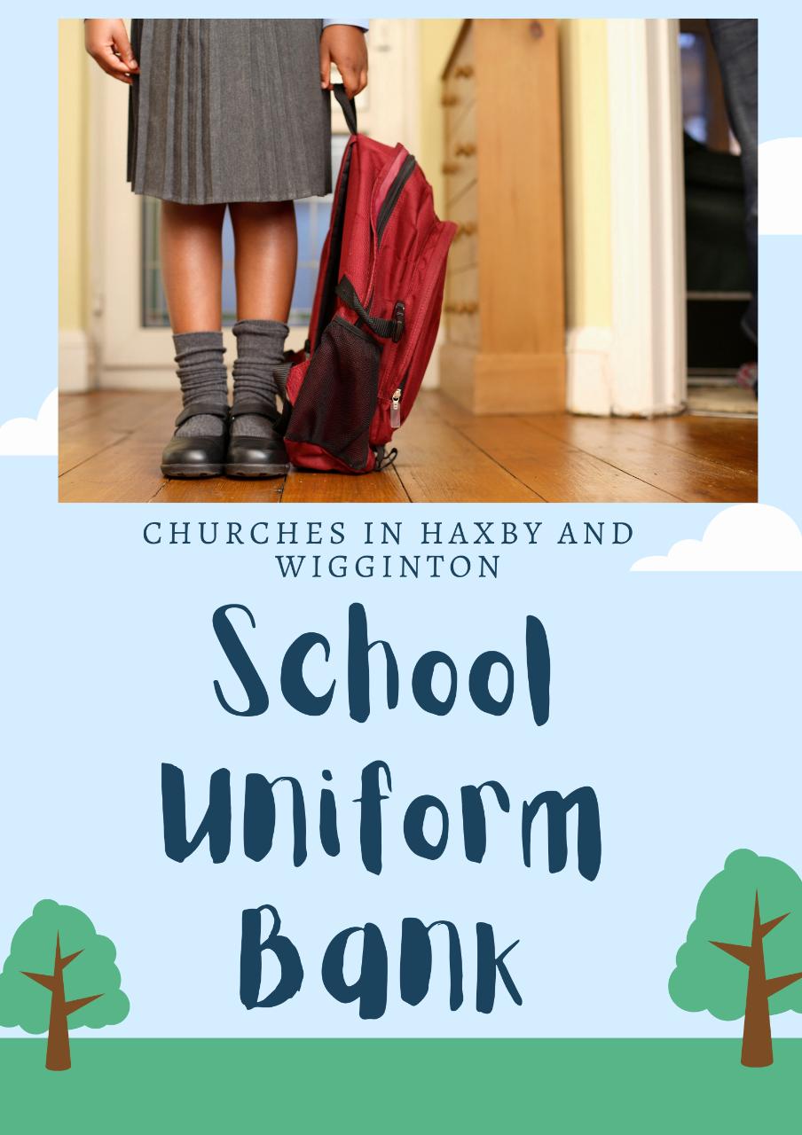 A child wearing school uniform