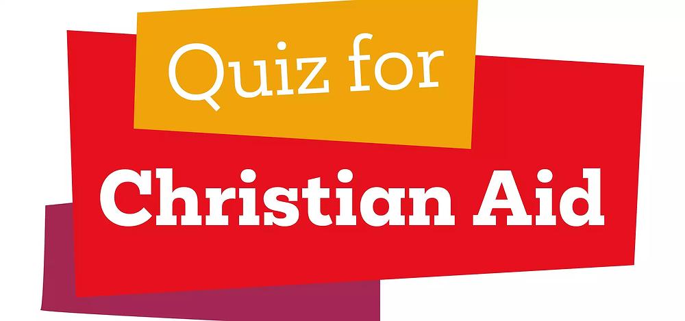 Logo saying Quiz for Christian Aid