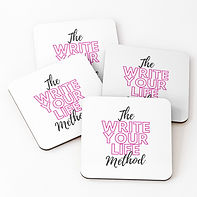 Write Your Life Method coasters