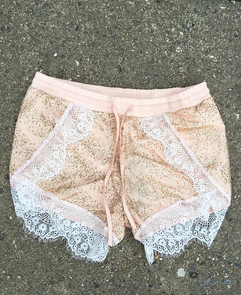 June Shorts - lys beige/rosa