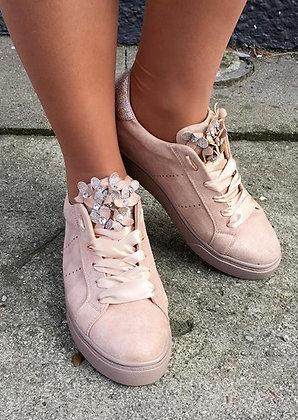 Sneakers sko -rosabeige