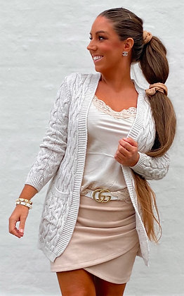 Cable Cardigan - beige