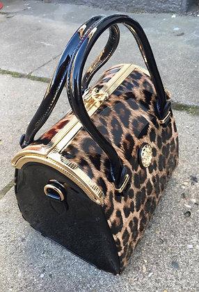 Leopard taske med simili