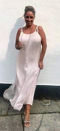 Silke kjole - rosa