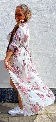 Kimono m. Blomster