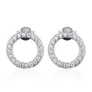 Cirkel øreringe - sølv