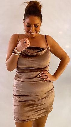 Velour kjole Mocca