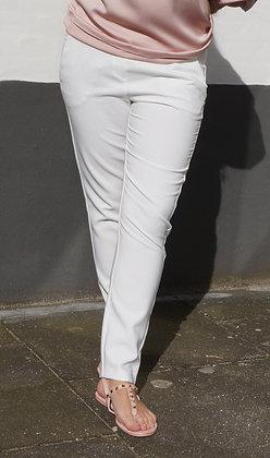 Habit bukser med stretch - hvid