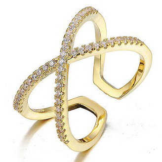 Scarlett - cross ring - guld