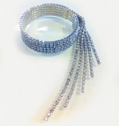 armbånd med similisten og vedhæng - sølv