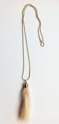 Simili kæde med mink - pudder