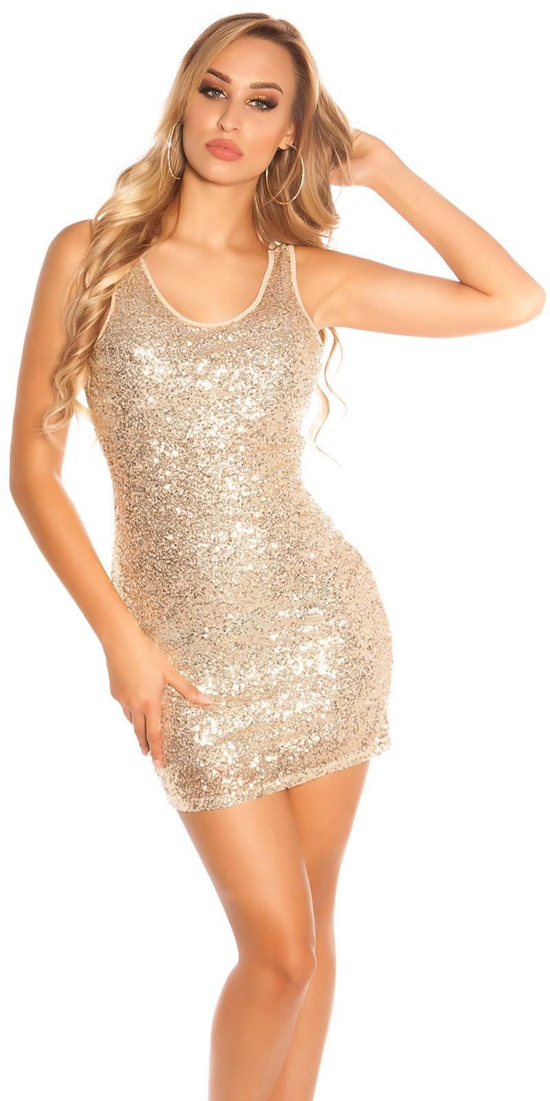 ef390e0d42ab Fyld garderoben til hverdagens kjole palietter guld