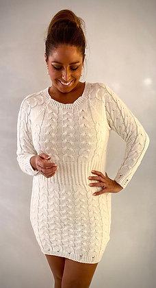 CABLE kjole i hvid