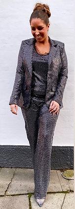 Divaz paliet sæt i sort med sølv glitter